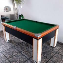 Mesa sinuca + acessórios + tábuas para virar mesa de ping pong
