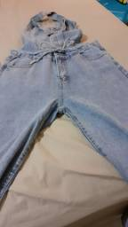 Vendo macacão jeans novo
