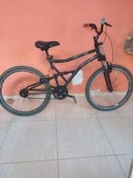 Bicicleta com amortecedores boa