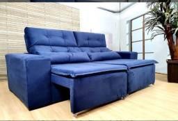 Sofá Retrátil reclinável 2m Modelo Zeus com frete grátis