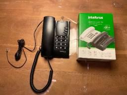Telefone de mesa pleno c/chave preto Intelbras - Novo