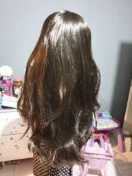 Kit de Linda peruca importada Nova longo