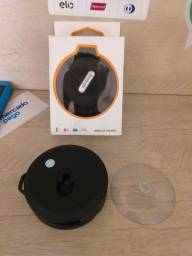 Caixa de som via Bluetooth e cartão com ventosa