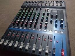 Mesa de Som MG12 Yamaha Mixer de 12 Canais