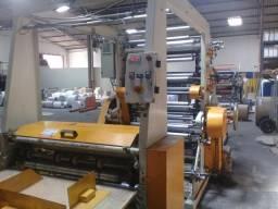 máquina flexo 04 cores de impressão marca brasiberica