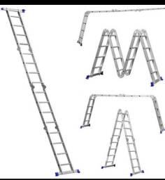Escada de alumínio não 16 degraus