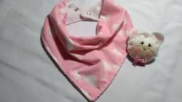 Lindo Babador bandana de bebê forrado com 2 regulagem Pronta Entrega!!!