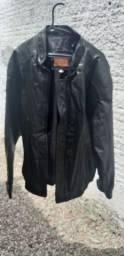 Casaco de couro grande