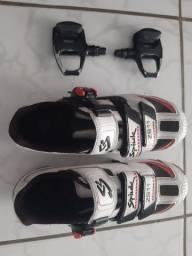 Sapatilha Spiuk zs11 + Pedais de clip shimano r540