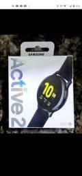 Galaxy watch Active 2 novo + Pulseira extra + case protetora