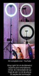 Oferta So Hoje Ring light * kit YouTube *com tripe R$ 299.00