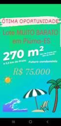 Lote 270m² em Piuma-ES Litoral