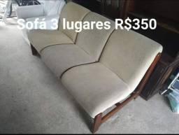 Vendo sofá 3 lugares fone :9- * Wattzp