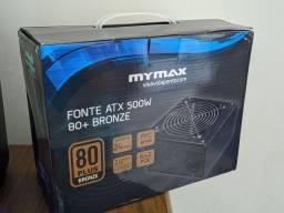 Fonte mymax 500w reais 80 plus