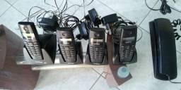 Central telefônica Intelbras kit com 1 linha e 3 ramais