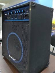 Kit caixa amplificado + mesa som