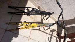 2 quadros bike aro 20 aço usada