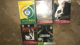 Vendo 3 jogos do play 2 ,1 do Xbox 360 ,1 dvd fifa.