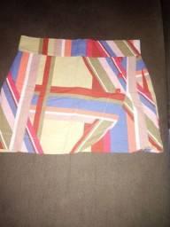 Vendo saia mosaico tipo envelope veste p