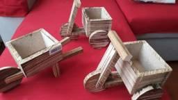 Cachepots de madeira
