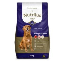 Ração Seca Nutrilus Pro Frango & Carne para Cães Adultos Premium Especial: 15kg