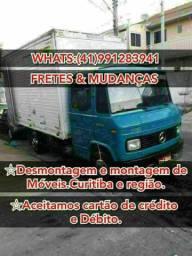 Frete mudanças caminhão baú em toda Curitiba e região
