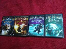 Vendo 4 DVD do Harry Potter Originais