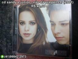 Cd sandy e junior - não dá pra pensar (2001)