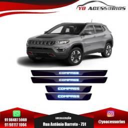 Título do anúncio: Jogo De Soleira Led Azul Jeep Compass