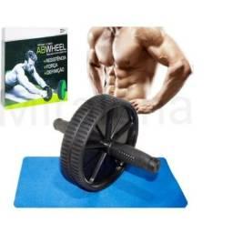 Roda de Exercícios Abdominal Lombar Musculação Crossfit Desmontável