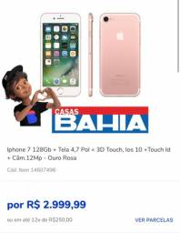 Toda a linha de Iphone em 12x sem juros nos cartões , 30x no cartão Casas Bahia
