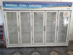 Espositor refrigerado de 5 portas