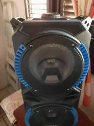 Caixa de som Sumay Magnum bluetooth rádio 400W auxiliar