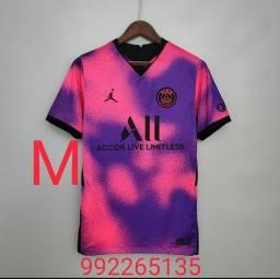 Camisa PSG Njr10 e Barcelona Messi 10,Tamanhos M e G, qualidade de fabricação Taylandesa