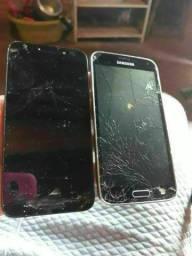 Vendo celular quebrado os dois