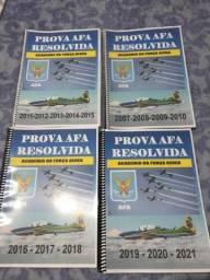 Provas AFA Resolvidas 2007-2021 com resolução
