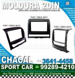 Título do anúncio: Moldura 2din Fiat Idea (produtos novos e com nota fiscal) 2011 a 2015