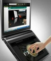 Acer Iconia o touchbook com duas telas<br><br>