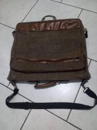 bolsa porta terno - cor marron e bege