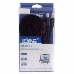 <br>Cabo Hdmi 3m Version 1.4 Lelong Le-6614 Achatado