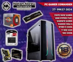 PC Gamer AMD Ryzen 5 2400G + 16GB HyperX Fury + SSD 240gb + Vega 11 - Loja Natan Abreu