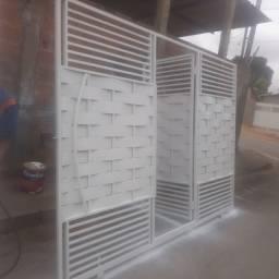 Ademar Serralheria vende estes portão de 316 de largura por  220 de altura