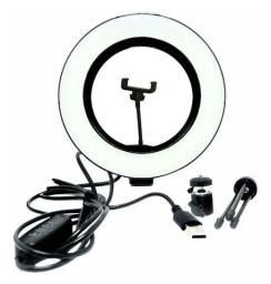 Luminária Aro de luz led com suporte para celular
