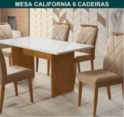 Mesa de jantar 6 cadeiras / frete e montagem grátis