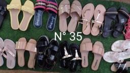 Kit com três calçados femininos