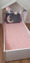Cama infantil completa com colchão