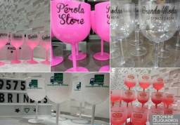 Copos e taças acrilicos personalizados