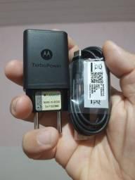CARREGADOR TURBO MOTOROLA 18W USB TIPO C PARA ONE,G8,G9 100% ORIGINAL. LEIA A DESCRIÇÃO.