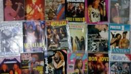 Posters de rock e metal e revistas antigas e Somtres
