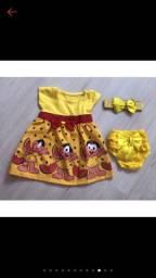 Vestido infantil + Calcinha+  Faixa só 35 reais